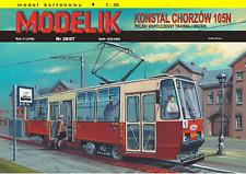 Tranvía 105N kit modelo de tarjeta de papel de 1:25 53cm de largo