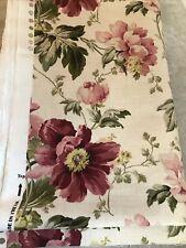 Laura Ashley Peony Garden Cranberry Fabric / Material x 4.6 Metres