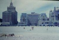 1962 Atlantic City Buildings Beach People Original 35mm Slide