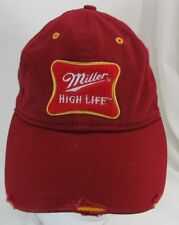 2005 DISTRESSED MILLER HIGH LIFE BEER HAT CAP  -B3