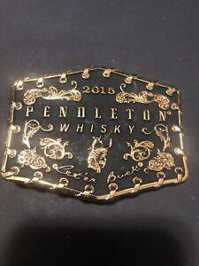 2015 Pendleton Whisky / Whiskey Belt Buckle Montana Silversmiths