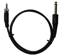"Guitar Adapter Cable 3.5mm(1/8"") Screw Lock to 1/4"" Mono for Sennheiser Wireless"