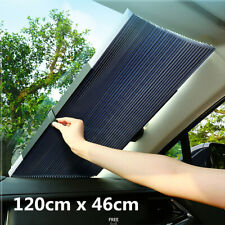 Retractable Car Front Rear Window Sun Shade Visor Windshield Roller Blind 120cm