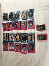 1979 Vintage Star Trek Red Border Puzzle Paramount Sticker Cards #1-22 Complete
