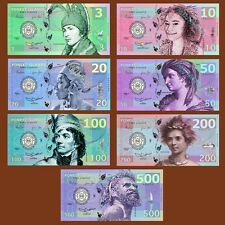 SET, Poneet Islands 3;10;20;50;100;200;500 Kasutu, 2015, POLYMER UNC