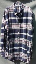 Cinch Men's Western Shirt XXL 2XL Blue Red White Plaid L/S Button Down w/ Pocket