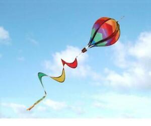HOT AIR BALLOON SPINNER TWISTER WINDSOCK for FLAG POLE caravan camping garden
