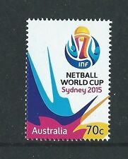 AUSTRALIA 2015 NETBALL WORLD CUP  UNMOUNTED MINT, MNH