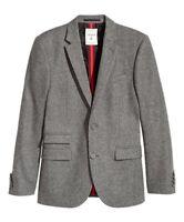 Erdem x H&M Wool-blend GREY blazer  size 38R / EURO 48  MEN - SOLD OUT RARE SIZE