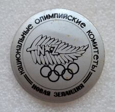 NEW ZEALAND Official Emblem 1984 Summer Olympic Games Los Angeles Olympiad