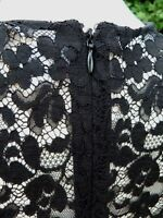 PRISTINE Miu Miu  BLACK SILK PLEAT FRONT LACE BACK  BLOUSE TOP Size 38 IT UK 6