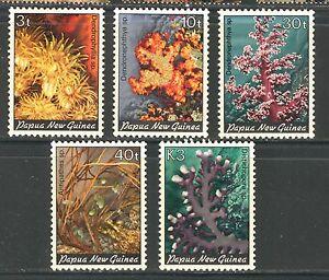 PAPUA NEW GUINEA 1983, SEA LIFE, CORALS, Scott 575-579, MNH