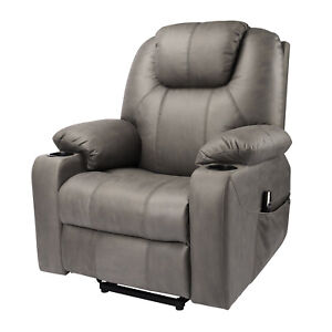 Electric Power Adjustable Backrest Footrest TV Lounge Relax Leathaire Sofa Chair