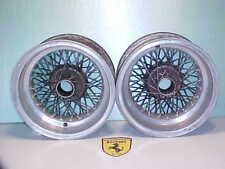 Ferrari Borrani 250 Wire Wheel Rim_Hubs_Pair_3801_6 1/2X15_250 GTO_GT2+2_330 OEM