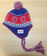 CHICAGO Winter hat - CHICAGO FLAG - Red, White and Blue - Long Style CUBS