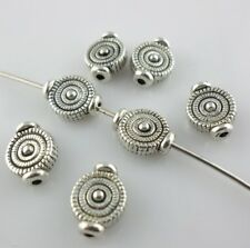 30pcs Tibetan Silver Tree Rings Spacer Beads 3.5x7x9.5mm Bracelet Beading Making
