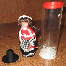 "VINTAGE SOUVENIR DOLL IN TRADITIONAL WELSH COSTUME BRONWEN 5 1/2"" TALL TUBE"