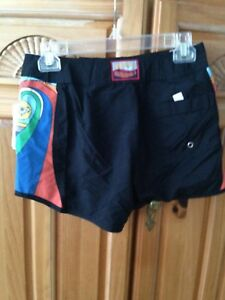 women's black board shorts by roxy juniors size 1