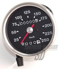 Smiths Repro Tacho km/h speedometer black face BSA Triumph 69-78 roter zeiger