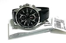 Casio Edifice Chrono Black Leather Mens Business Class Watch EFR-531L-1A EFR531