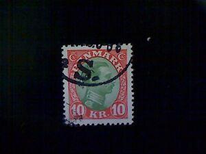 Stamp, Denmark (Danmark), Scott #131, used (o), 1928, King Christian X, 10k