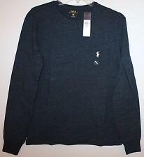 Polo Ralph Lauren Mens Blue Eclipse Crewneck Chest Pocket L/S T-Shirt NWT $49 XS