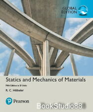 NEW 3 Days US Statics and Mechanics of Materials 5E R C Hibbeler 5th Si Edition