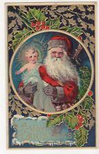 A JOYOUS CHRISTMAS POSTCARD - SANTA HOLDING BABY JESUS - c.1912 HEYMANN