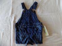 Genuine OshKosh Girls Dobby Wash Denim Overalls Shortalls Infant/Toddler NWT