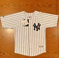 NWT Kids New York Yankees Johnny Damon #18 Jersey Sz M (10-12) Pinstripes MLB AL