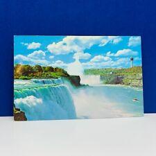 Postcard vintage post card ephemera Niagara Falls Canada horseshoe american mcm