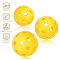 1pc Amarillo Portátil Pickleball Hinchable Duradero Bola para Interior y