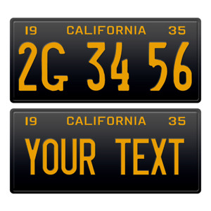 1 x Custom Personalized 1935 California License Plate with YOUR TEXT