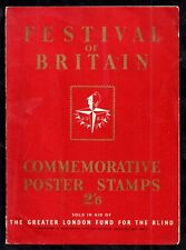 More details for 1951 festival of britain folder + stamps fund for the blind scarce ws17651(l)