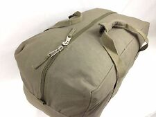 Heavy Duty Canvas Duffle Bag, GI Duffel Carry Bag Olive Luggage Travel Camping