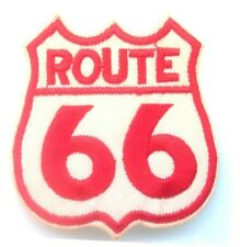 ROUTE 66 Embroidered Iron-On or Sew On Patches 5cm x 5.5cm