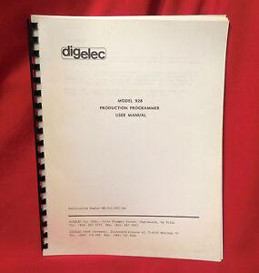 digelec Model 928 Production Programmer User Manual  PROM-EPROM Book