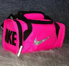 NWT Nike Pink and Black Insulated Bottle Tote Bag Custom with Swarosvki Crystals
