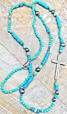 """Silpada """"Ideal"""" .925 Sterling Silver Howlite Pearl & Pyrite Cross Necklace N3028"""