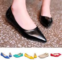 New Women Pointed Toe Flat Shoes Slip On Ballet Flats Work Dress Flat Pumps Shoe