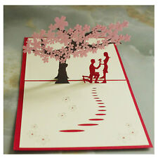 3D Pop Up Card Valentine's Day Birthday Wedding I Lover You Proposal 3D Card
