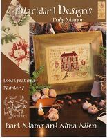 Blackbird Designs Tulip Manor #7 Loose Feathers Sampler Cross Stitch Pattern