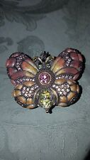 Jay Strongwater Butterfly Crystal Trinket Box Papillon Collection New in box!