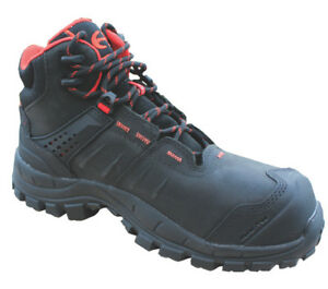 Uvex MAC Crossroad Black Composite Toe and Midsole Safety Work Boots, Size 6-12
