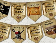 Personalised Pirates Party Decoration Bunting/Banner & Ribbon