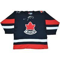 Team Canada Black 2002 Olympic Hockey Third / Alternate Nike Throwback Jersey L