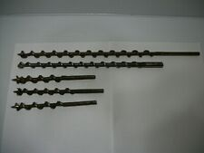 """1/4"""" Auger Bits Lot (5) Several Lengths 16"""" 12"""" (3) 7"""""""