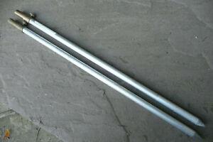 "Phillips 17"" Long Aluminium Banksticks x2 Old School/Retro Carp fishing Set up"