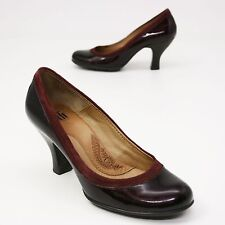Söfft Shoes 6 M Venezia Red Patent Leather High Heel Loafer Pumps Sofft Round