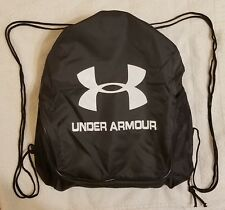 d09f61c4e247 Black Drawstring Backpack Under Armour Sport Gym School Sack Tote Travel Bag